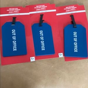NWT set of 3 brand new oversized luggage tags